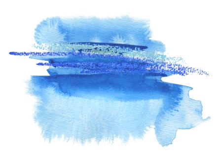 Photo pour Abstract watercolor blot painted background. Texture paper. Isolated. - image libre de droit