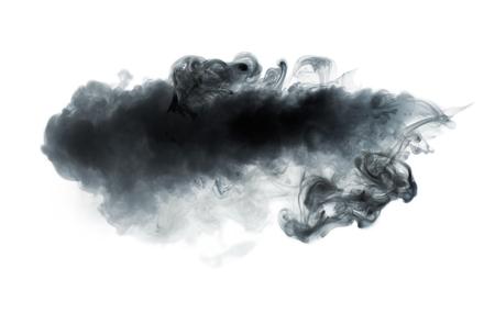 Photo pour Black smoke isolated on white - image libre de droit