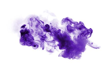 Foto de Violet smoke isolated on white background - Imagen libre de derechos