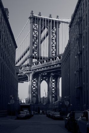 Manhattan Bridge. Close up image of Manhattan Bridge in New York City.