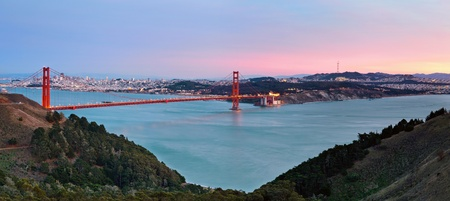 San Francisco Bay. Image of Golden Gate Bridge with San Francisco skyline in the background.