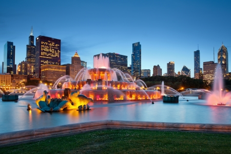Buckingham Fountain. Image of the Buckingham Fountain in Grant Park, Chicago, Illinois, USA.