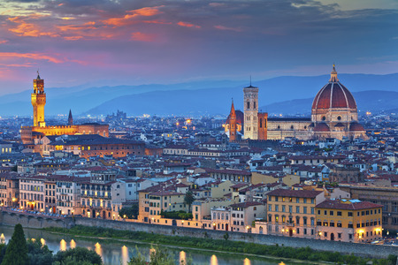 Photo for Florence. Image of Florence, Italy during beautiful sunset. - Royalty Free Image