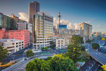 Photo for Auckland. Aerial cityscape image of Auckland skyline, New Zealand during summer day. - Royalty Free Image