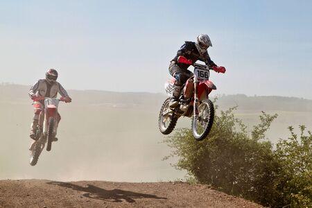 Photo for Windsberg, Germany - June 29, 2019 Motocross training in Windsberg Germany - Royalty Free Image
