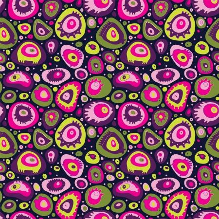 Illustrazione per Abstract seamless pattern. Image cute stuff - Immagini Royalty Free