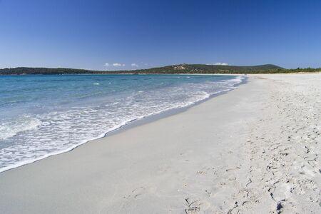 Photo pour View of Porto Pino beach - image libre de droit