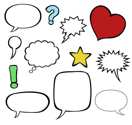Comics style speech bubble baloons