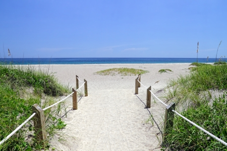 Entrance way to the beautiful scenic beach dunes