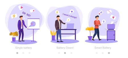 Ilustración de low battery concept - Imagen libre de derechos