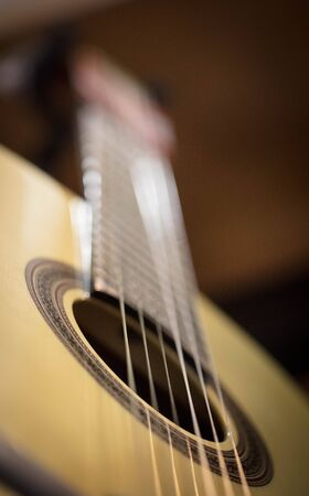 detail of a classic guitar