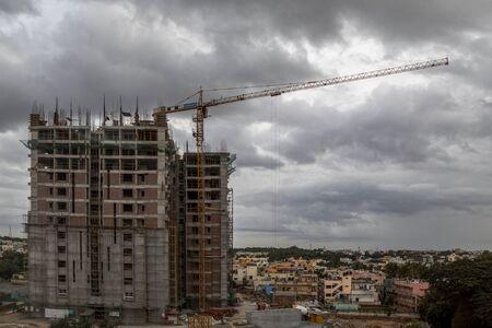 Photo pour bangalore,India, 6 Sep 2018, Indians Construction site. - image libre de droit
