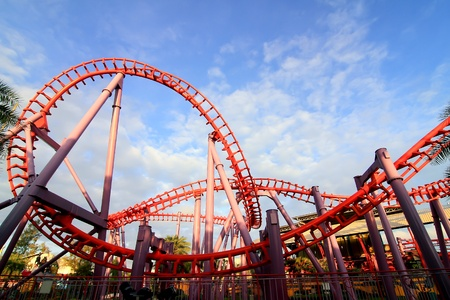 a steel roller coaster