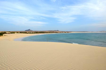 Praia de Chaves Beach in Boa Vista, Capo Verde, at Sunset
