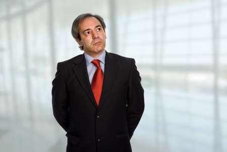 Photo pour mature business man portrait at the office - image libre de droit