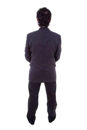 Photo pour Back view of a business man, isolated - image libre de droit