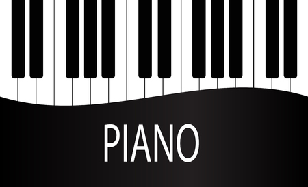 Illustration for Black and White Piano Keys Background Design. Stock Vector Illustration, eps 10 - Royalty Free Image