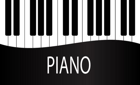 Illustration pour Black and White Piano Keys Background Design. Stock Vector Illustration, eps 10 - image libre de droit