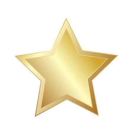 Illustration for Star Sparkling Shining Golden for greeting card design, stock vector illustration - Royalty Free Image