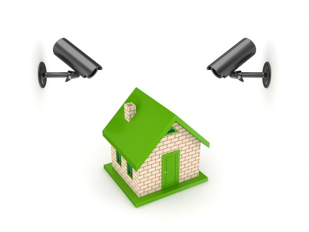 Observation cameras and small house