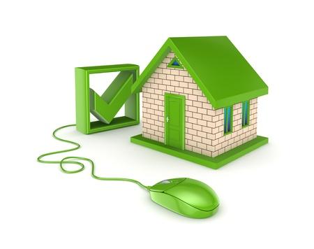 Photo pour Real estate online concept  - image libre de droit