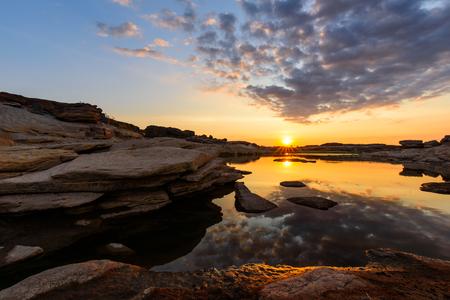Sunrise at the lake in Sam Phan Bok / Grand Canyon of Thailand