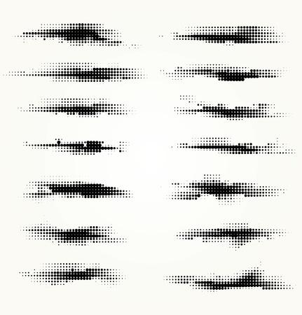 Illustration for Set of horizontal spots halfton - Royalty Free Image