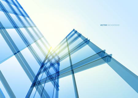 Photo for Abstract building from the lines. Vector illustration - Royalty Free Image