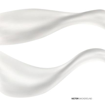 White abstract liquid milk splash background. Vector illustration