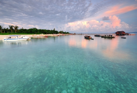 Sunrise Reflection Mabul Island