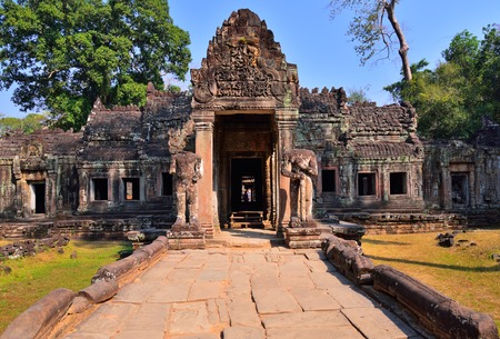 Preah Khan Temple entrance, one of the temple in Angkor Wat Temple complex located in Siem Reap, Cambodia