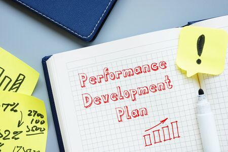 Photo pour Financial concept about Performance Development Plan with inscription on the page. - image libre de droit