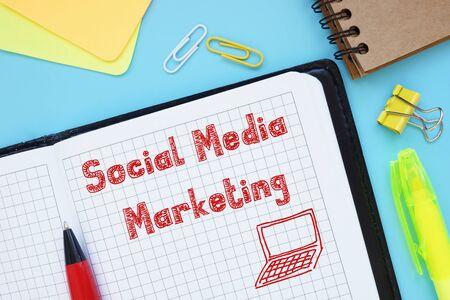 Foto de Social Media Marketing SMM inscription on the page. - Imagen libre de derechos