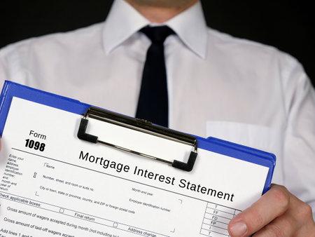 Photo pour Form 1098 Mortgage Interest Statement - image libre de droit