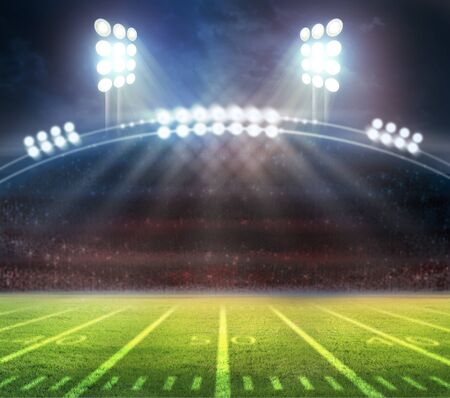 Photo for American Soccer Stadium 3d rendering - Royalty Free Image