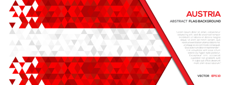 Ilustración de Abstract polygon Geometric Shape background.Austria flag - Imagen libre de derechos