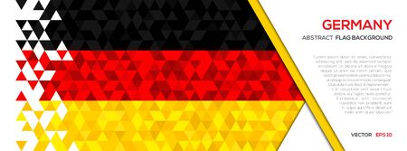 Ilustración de Abstract polygon Geometric Shape background.Germany flag - Imagen libre de derechos