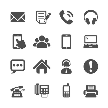 Illustration for communication icon set, vector eps10. - Royalty Free Image