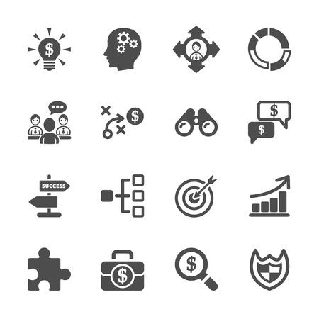 Vektor für business strategy icon set - Lizenzfreies Bild
