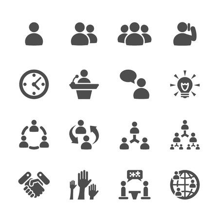 Vektor für business and management icon set 7 - Lizenzfreies Bild