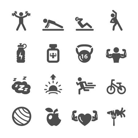 fitness icon set 2, vector