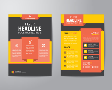 corporate brochure flyer design layout template in A4 size, with bleed