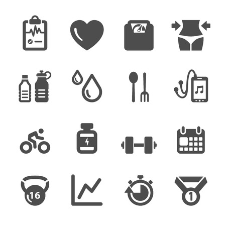 Foto de healthy and fitness icon set  - Imagen libre de derechos