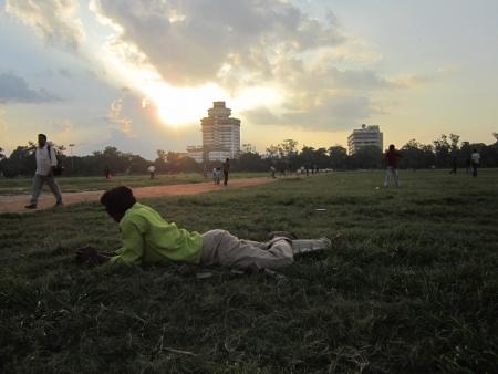 ACTIVITIES AT GANDHI MAIDAN, PATNA. SHOT AT EVENING HOURS ON 10.10.12 AT GANDHI MAIDAN, PATNA, BIHAR, INDIA.