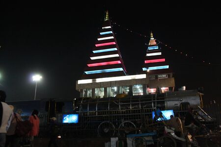 Activities at Patna Junction. Travel Patna Junction. Shot at Patna Junction, Patna, Bihar on 04.02.2015. Evening hours