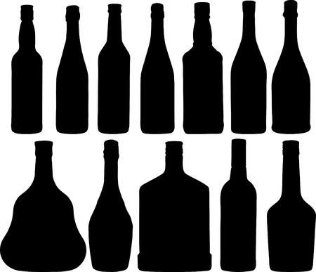 Abstract vector illustration of the different bottles