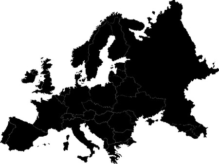 Abstract europe vector map on white