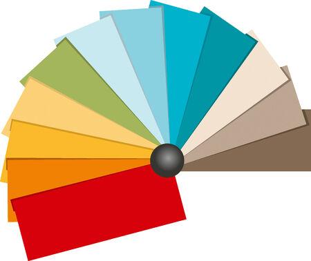 Color Swatch illustration. Beach tone color.