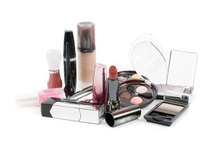 Set of cosmetics isolated on a white backgroundの写真素材