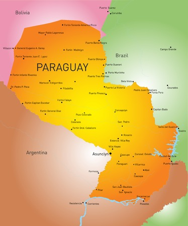 color map of Paraguay country